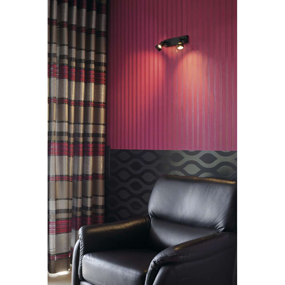 PURI 2 Wand- und Deckenleuchte schwarz