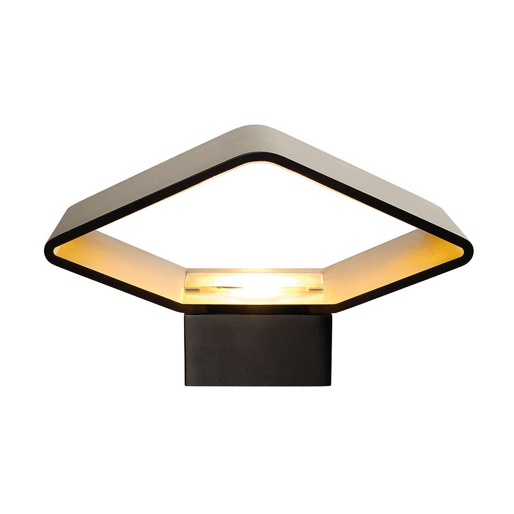 CARISO, LED Wandleuchte 1  schwarz/messing