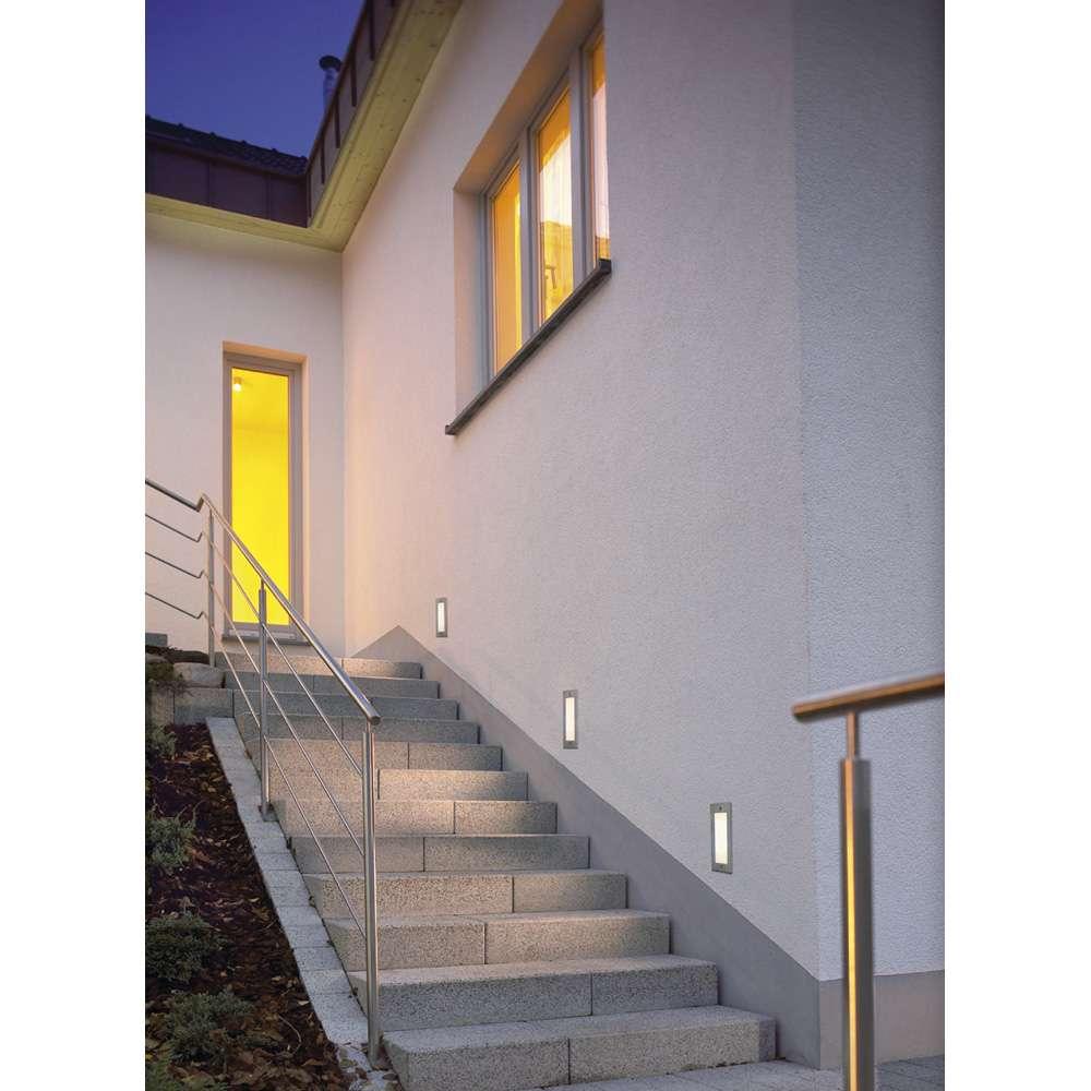 Brick LED16 Edelstahl  weiß