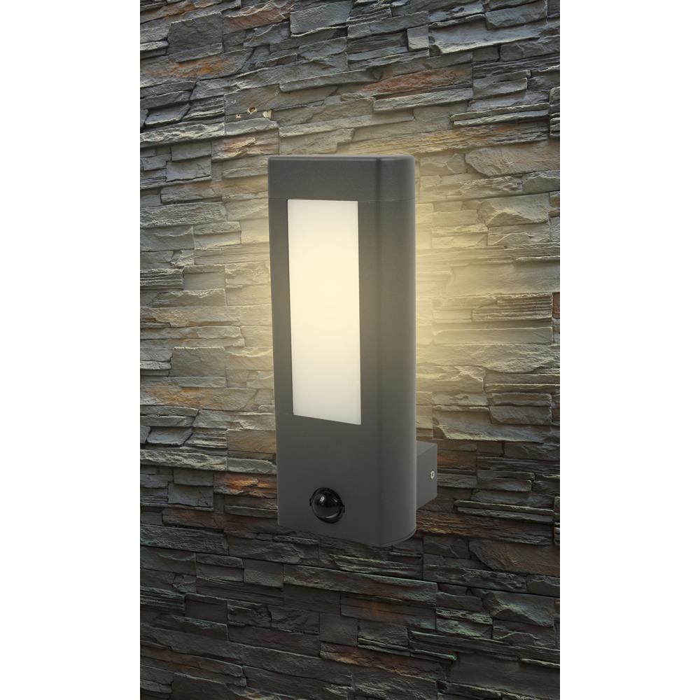 Amarillo LED Wandleuchte 10W mit Sensor, 3000K, graphit