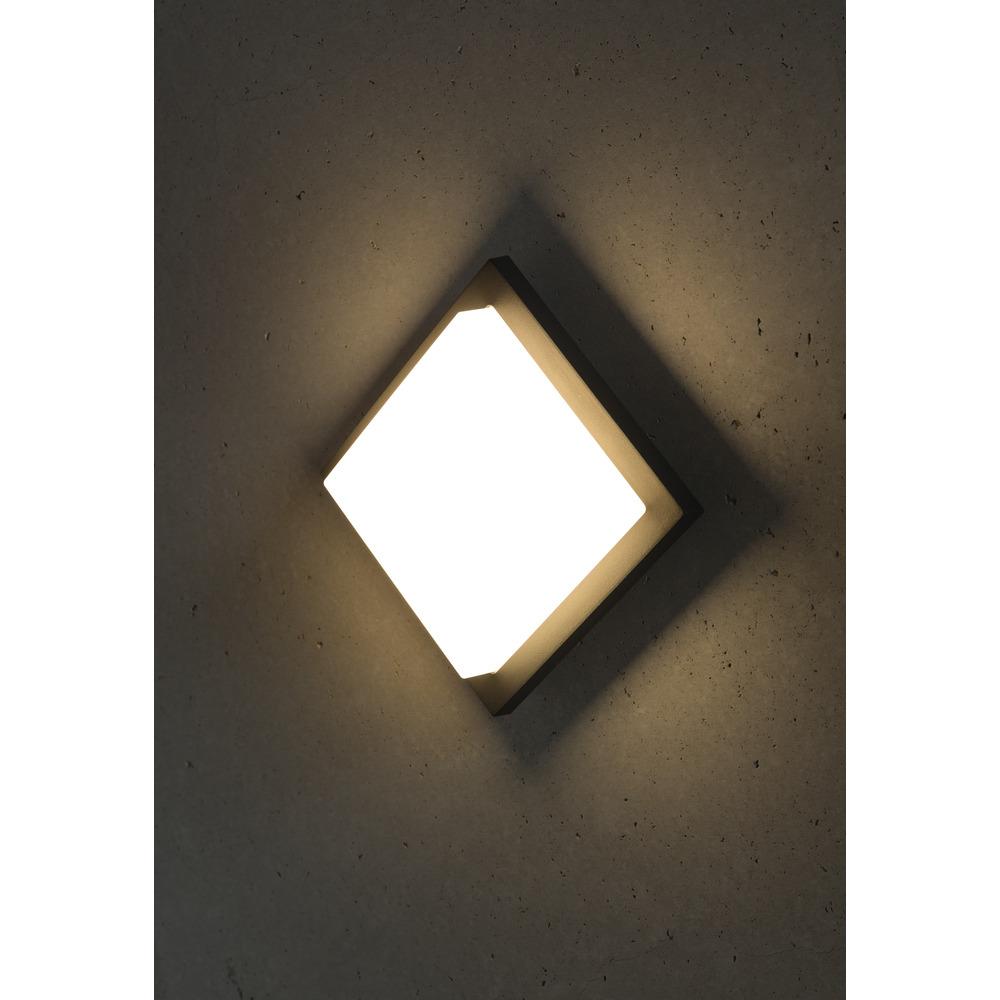 Makira LED Wand- und Deckenleuchte, 8W, 3000K, graphit