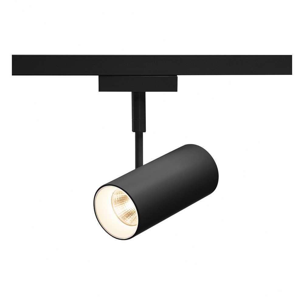 Strahler für SLV D-TRACK 2-Ph.HV-Stromschiene REVILO, LED, 3000K, inkl. 2 Ph.-Adapter schwarz|15°