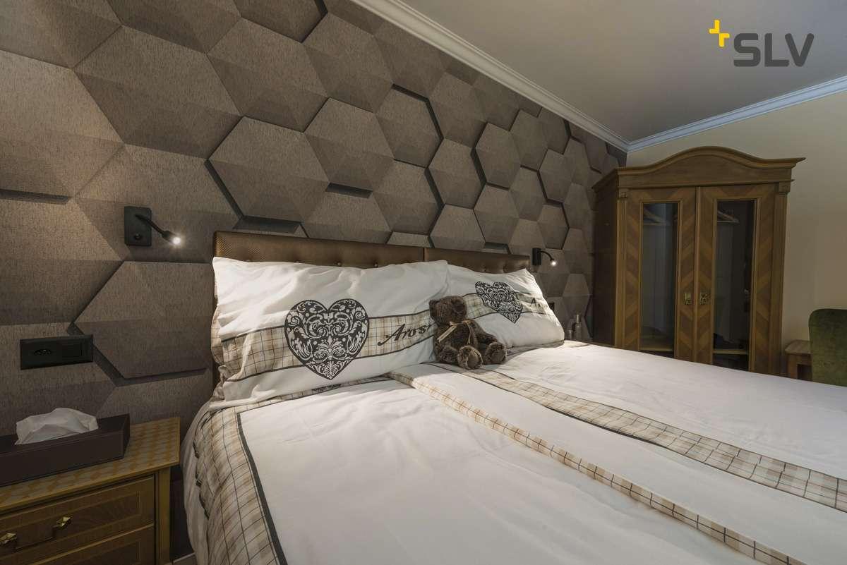 SLVPIPOFLEX Wandleuchte Aluminium LED Schlafzimmer schwarz