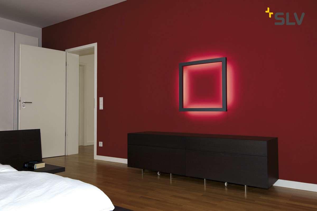 OPEN GRILL LED, Double Twist Wand- und Deckenleuchte, eckig, schwarz